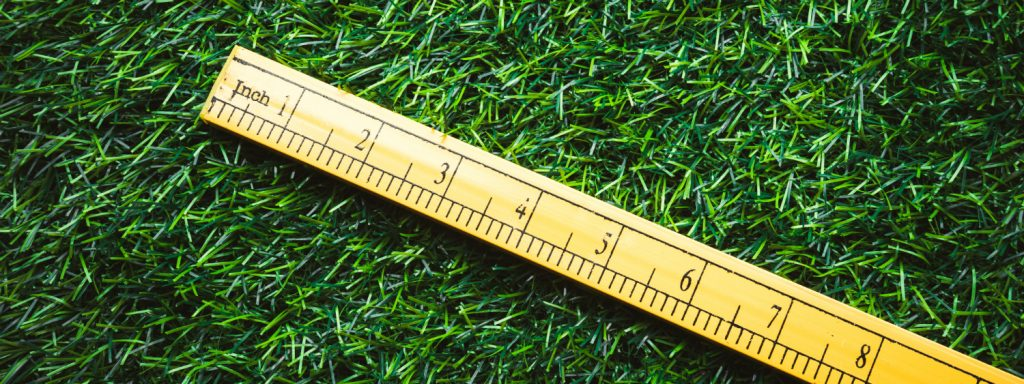 measuring grass height